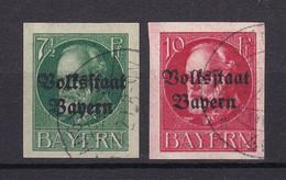 Bayern - 1920 - Michel Nr. 118/119 B - Gestempelt - 50 Euro - Bayern