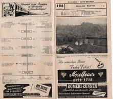 V9 Sv  Horaire Des Trains Train Holland Italien Express Amsterdam Basel En 1951 - Other