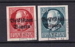 Bayern - 1920 - Michel Nr. 120/121 B - Gestempelt - 50 Euro - Bayern