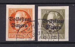 Bayern - 1920 - Michel Nr. 123/124 B - Gestempelt - 50 Euro - Bayern