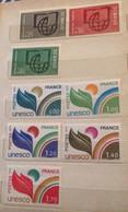 Seven MNH Stamps France 1966 - 1978 Unesco - Ungebraucht