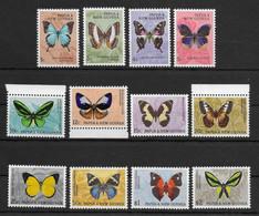 PAPUA NEW GUINEA * 1966 * Complete Set 12 Stamps * MNH** Butterflies - Mi.No 83-94 - Papua New Guinea