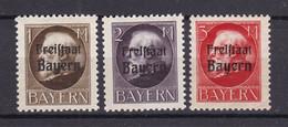 Bayern - 1919 - Michel Nr. 165/167 A - Postfrisch - Bayern