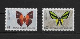 PAPUA NEW GUINEA * 1966 * Set 2 Stamps * MNH** Butterflies - Mi.No 93-94 - Papua New Guinea
