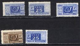 ITALIA -  PACCHI POSTALI - LOTTO NUOVI - Paketmarken