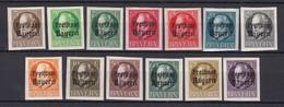 Bayern - 1920 - Michel Nr. 152/164 B - Ungebr. - Bayern