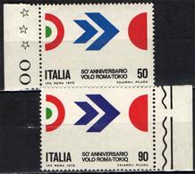 ITALIA - 1970 - CINQUANTENARIO DEL PRIMO VOLO ROMA-TOKIO - MNH - 1961-70: Ungebraucht