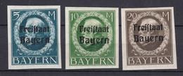 Bayern - 1920 - Michel Nr. 168/170 B - Ungebr. - Bayern