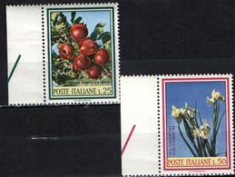 ITALIA - 1967 - SERIE FLORA ITALIANA: RAMO DI MELO E IRIS FIORENTINAE - MNH - 1961-70: Ungebraucht