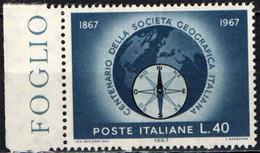 ITALIA - 1967 - CENTENARIO DELLA SOCIETA' GEOGRAFICA ITALIANA - MNH - 1961-70: Ungebraucht