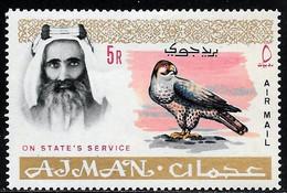 Scott # CO4  Sheik Rashid Bin Humaid Al Naimi  /  1965  Air Post Official   5R   M/LH - Ajman