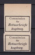 Bayern - Retourmarken - Augsburg Paar OR - Ungebr. - 100 Euro - Bayern