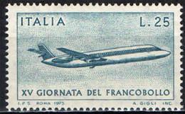 ITALIA - 1973 - 15^ GIORNATA DEL FRANCOBOLLO - AEREO POSTALE - MNH - 1971-80: Ungebraucht