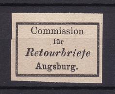 Bayern - Retourmarken - Augsburg - Ungebr. - 30 Euro - Bayern