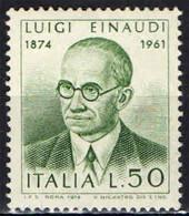 ITALIA - 1974 - CENTENARIO DELLA NASCITA DI LUIGI EINAUDI - MNH - 1971-80: Ungebraucht