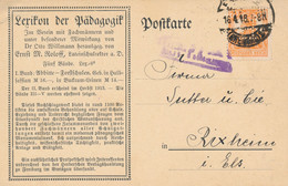 FREIBURG  - 1918 ,  Perfins / Firmenlochung  -  HERDERSCHE VERLAGSHANDLUNG  -  Karte Nach Rixheim - Briefe U. Dokumente