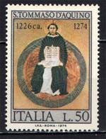 ITALIA - 1974 - 7° CENTENARIO DELLA MORTE DI SAN TOMMASO D'AQUINO - MNH - 1971-80: Ungebraucht