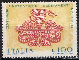 ITALIA - 1975 - CENTENARIO DELLA LEGGE ORGANICA DEL NOTARIATO -  MNH - 1971-80: Ungebraucht