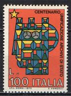 ITALIA - 1975 - CENTENARIO DELL'UNIFICAZIONE DEGLI ARCHIVI DI STATO -  MNH - 1971-80: Ungebraucht