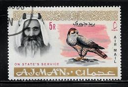 Scott # CO4  Sheik Rashid Bin Humaid Al Naimi  /  1965  Air Post Official   5R   Pre-Cancel/LH - Ajman