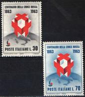 ITALIA - 1963 - CENTENARIO DELLA FONDAZIONE DELLA CROCE ROSSA - MNH - 1961-70: Ungebraucht