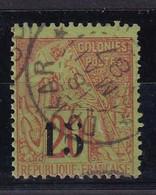 COLONIES FRANCAISES - SENEGAL - 1887 - YT 5f Type VII - Oblitéré - Signé Scheller - COTE 155E - Used Stamps
