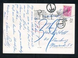 """Italien / 1985 / Karte (AK) Nach Deutschland, """"Nachgebuehr"""" (Stempel !!!) (5151) - 1981-90: Poststempel"""