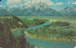 Grand Teton National Park ,Wyoming, USA, SNAKE RIVER,      Real Photo, Pub. By Sanborn Souvenir Co. - Unclassified