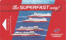 GREECE - SuperFast Ferries, Cabin Keycard, Used - Hotel Keycards