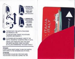 GREECE - Minoan Lines, Cabin Keycard, Used - Hotel Keycards