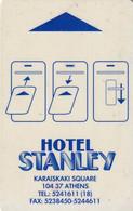 GREECE - Stanley, Hotel Keycard, Used - Hotel Keycards