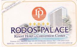 GREECE(chip) - Rodos Palace, Hotel Keycard, Used - Hotel Keycards