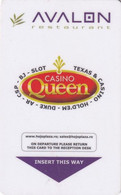 ROMANIA - Hojoplaza(reverse Casino Queen), Hotel Keycard, Used - Hotel Keycards