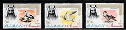 Scott # 16-18  Sheik Rashid Bin Humaid Al Naimi  /  ( 3 ) 1964  Postage  3,5,10R  M/LH - Ajman