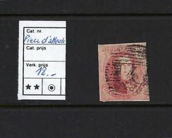 Belgique - Médaillon N°8  Carmin. Pièce D'attente. - 1849-1850 Medallions (3/5)