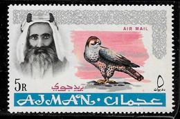 Scott # C9  Sheik Rashid Bin Humaid Al Naimi  /  1965  Air Post  5R   M/LH - Ajman