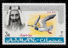 Scott # C8  Sheik Rashid Bin Humaid Al Naimi  /  1965  Air Post  3R   M/LH - Ajman