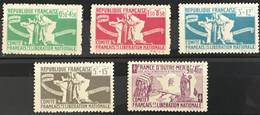 Colonies Françaises YT 60 à 64 (**) MNH 1943 émissions Générales Aide Aux Combattants (côte 10 Euros) – Kdomi - Other