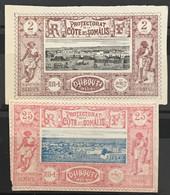 Côte Française Des Somalis YT 7 12 (*) Neuf Ss Gomme Colonies Françaises 1894-1900 (côte 15,5) – La2phil - Unused Stamps