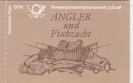 DDR MH 9 V 1, Gestempelt, Süßwasserfische 1988 - Markenheftchen