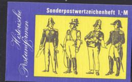 DDR  Markenheftchen SMHD 25 II, Postfrisch **, Mit 10x 3015, Postuniformen 1986 - Markenheftchen