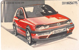 GERMANY(chip) - VW Golf(O 329), Tirage 10000, 09/93, Used - Cars