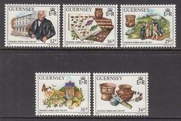 1988 Guernsey Frederick Lukis Archaeologist Artefacts    Complete Set Of 5 MNH @ BELOW FACE VALUE - Guernsey