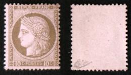 N° 54 10c CERES Brun/rose TB Neuf NSG Cote 180€ Signé Calves - 1871-1875 Ceres
