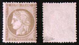 N° 58 10c CERES Brun/rose TB Neuf NSG Cote 150€ Signé Calves - 1871-1875 Ceres