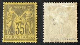 N° 93 75c Violet-noir/jaune SAGE Neuf N* TB Cote 800€ Signé Calves - 1876-1898 Sage (Type II)