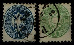 AUSTRIA  1863 DOUBLE EAGLE MI No 31. 33 USED VF!! - Used Stamps