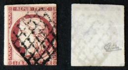 N° 6 1F CERES Carmin Déf. Oblit Cote 1000€ Signé Calves - 1849-1850 Ceres