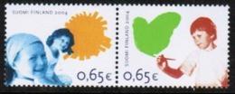 2004 Finland Stamp Pairs **, Michel 1723-4 Rights Of The Child. - Ungebraucht