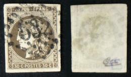 N° 47 30c CERES BORDEAUX Brun B/TB Oblit Cote 280€ Signé Calves - 1870 Ausgabe Bordeaux